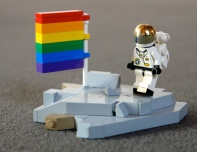 LEGO rainbow flag
