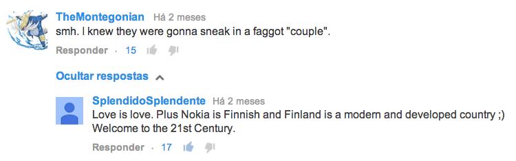 Comentário Homofóbico #LumiaLove