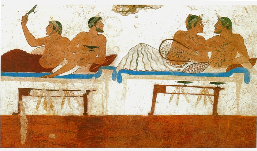 Wall Painting Tomb Paestum Italy Greek Colony