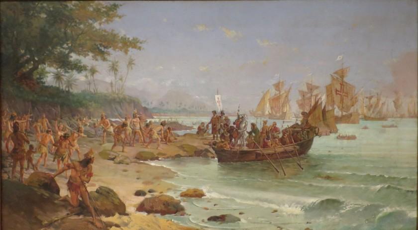 Oscar Pereira da Silva | Desembarque de Pedro Álvares Cabral em Porto Seguro em 1500  Brasil lgbt homossexualidade gay