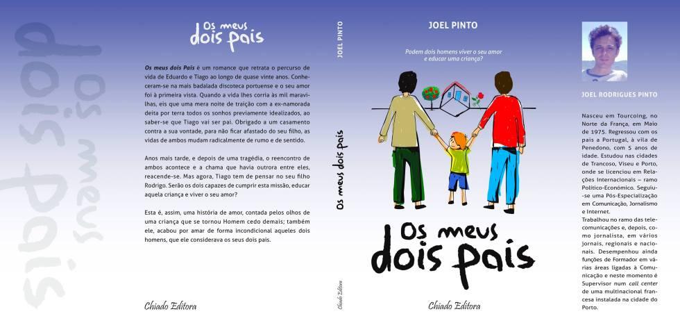 Os meus dois pais_capa completa Joel Rodrigues Pinto LGBT Livro