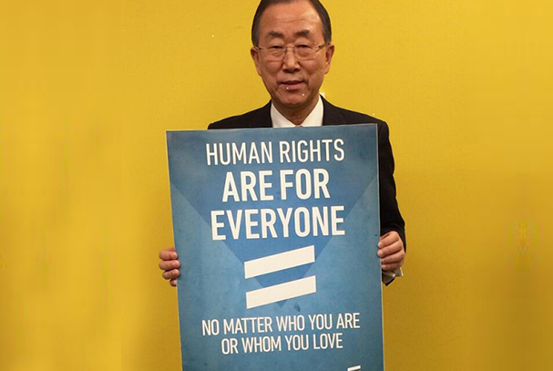 ONU LGBT homofobia transfobia direitos humanos Ban Ki-moon