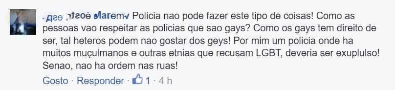 Comentário homofóbico 1