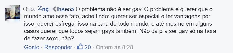 Comentário Homofóbico 5