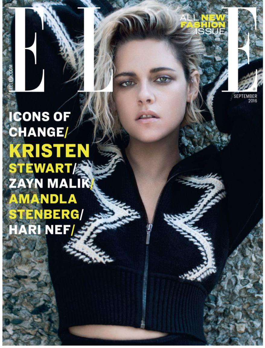 Kristen Stewart ELLE Magazine  cover LGBT Escrever Gay