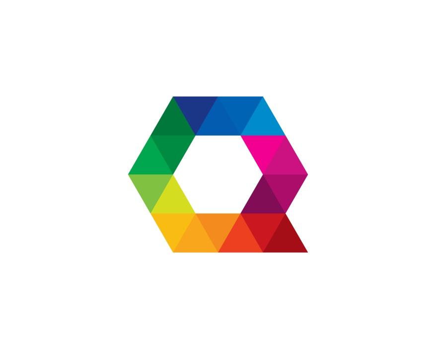 Letter Q Creative Triangle Color Logo Design Element