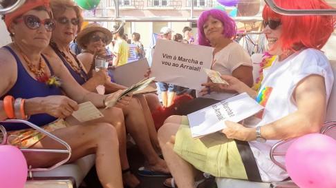 Marcha Orgulho LGBT Lisboa 2017 a avó veio trabalhar