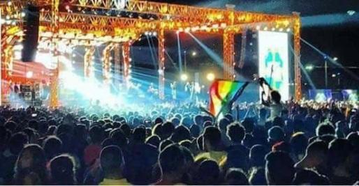 egito bandeira arco-íris homofobia rainbow flag concerto