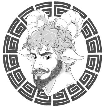 """""""Drawing Satyr"""" por Vampiralho"""