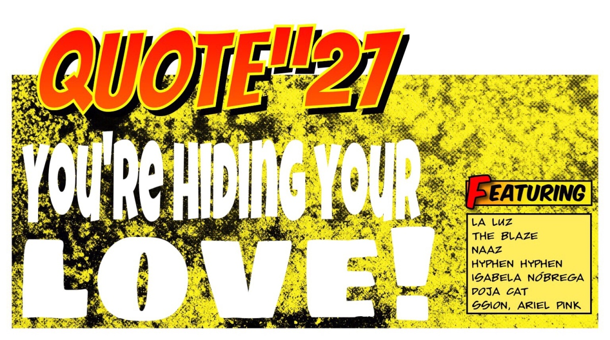 "QUOTE""27: You're hiding your love!"