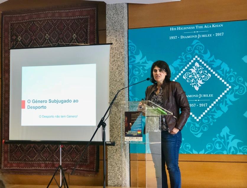 conferência rede ex aequo desporto família LGBTI Ana Chaparreiro ILGA Portugal
