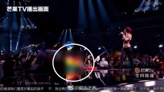 Eurovision Eurovisão China Censura Rainbow Flag Bandeira arco-íris Pride Lisboa Portugal