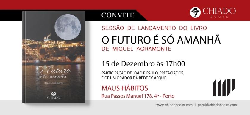 O Futuro é só amanhã - Convite Lançamento Porto Entrevista Livro Literatura LGBT LGBTI Portugal