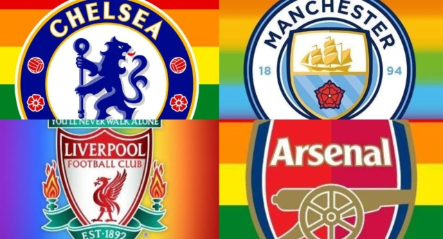 Futebol: Clubes da Premier League vestem-se de arcos-íris (para quando o mesmo em Portugal?)